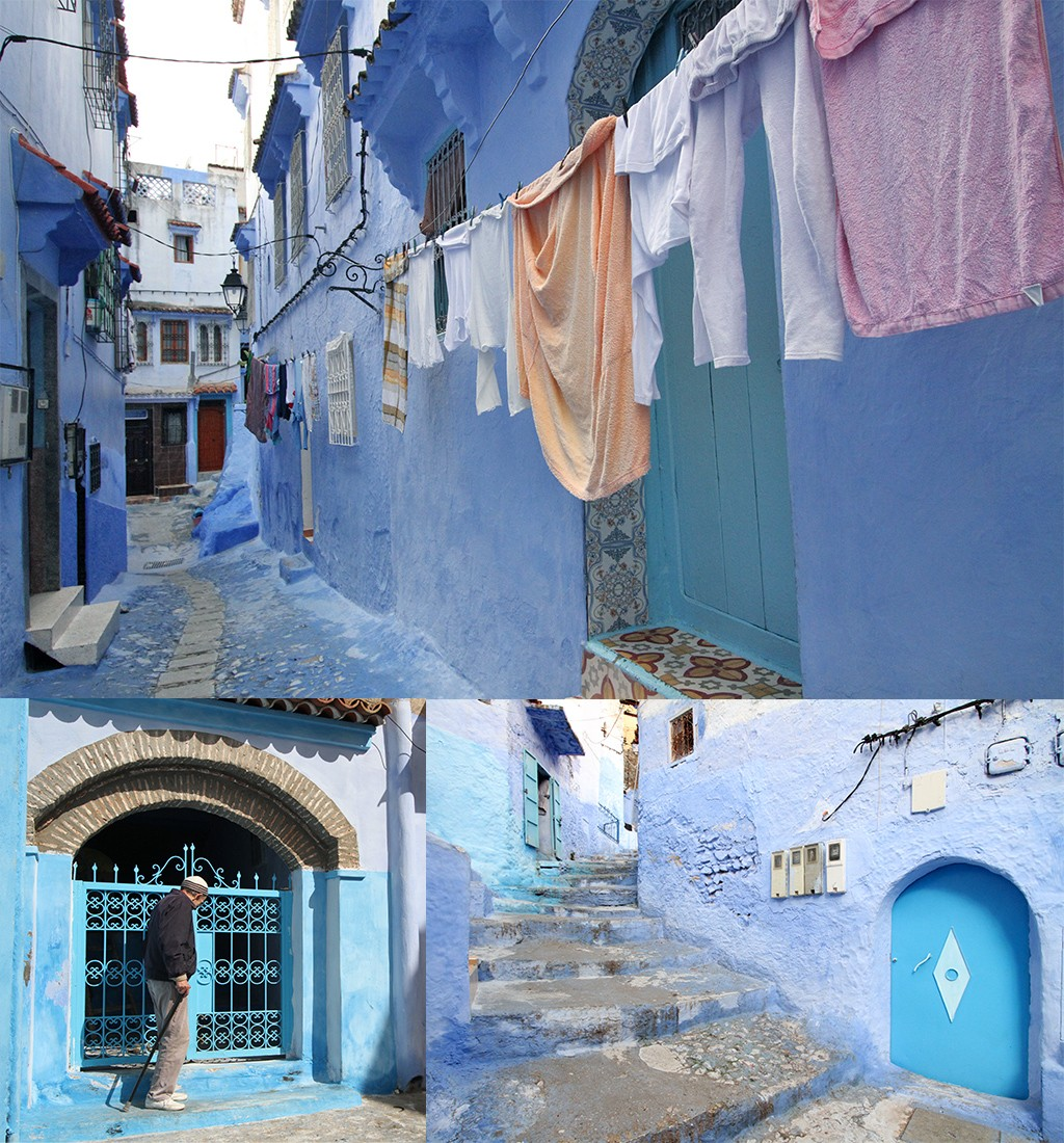 blauwe straten in Chefchaouen