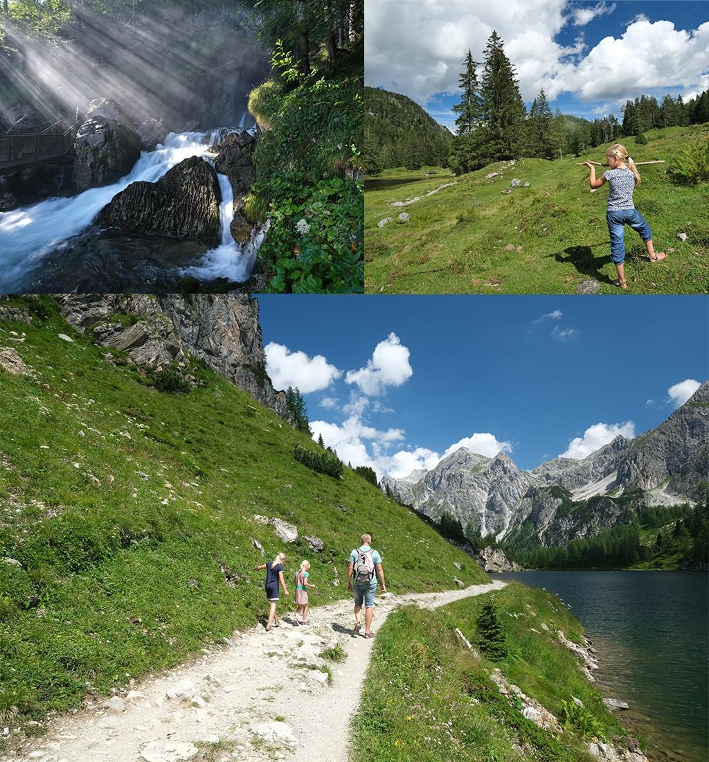 de bergen in Oostenrijk met kinderen