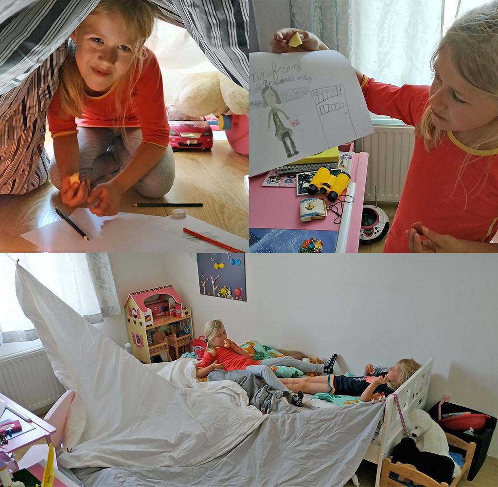 kamperen in de eigen slaapkamer