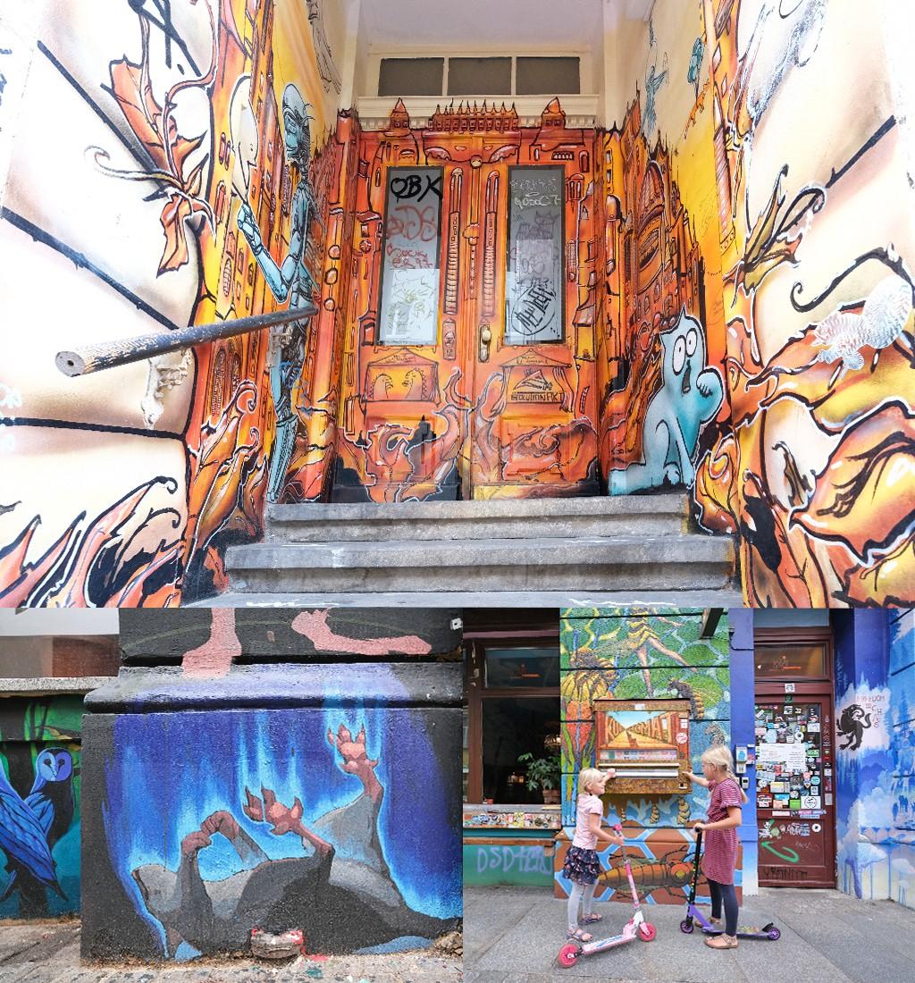 street art Dresden einde Alaunstrasse