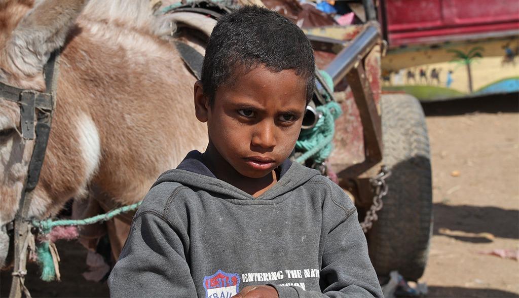 Verlegen kinderen in Zuid Marokko