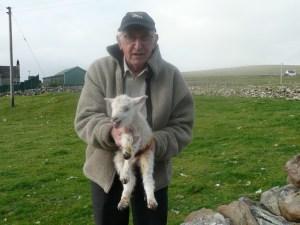 Dad and lamb