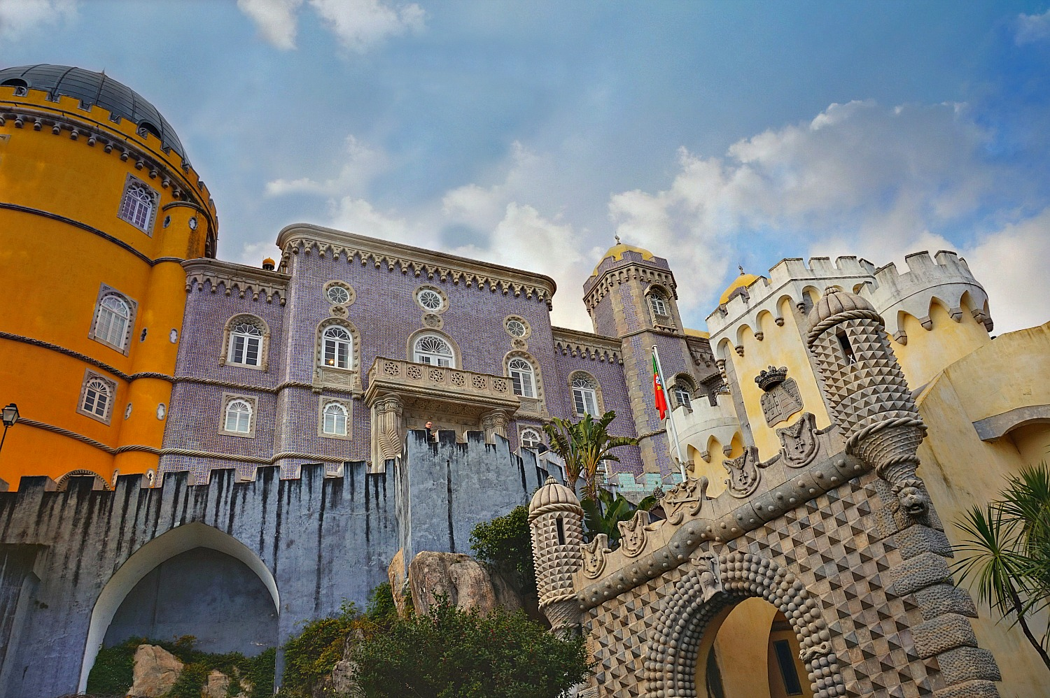 Portugal - one day itinerary. With a mix of styles and colors, Pena Palace is one of Europe's most unique attractions.