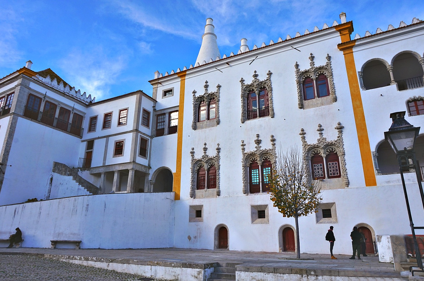 Portugal - one week itinerary. Palacio National de Sintra, remains one of the Portugal's top attractions.
