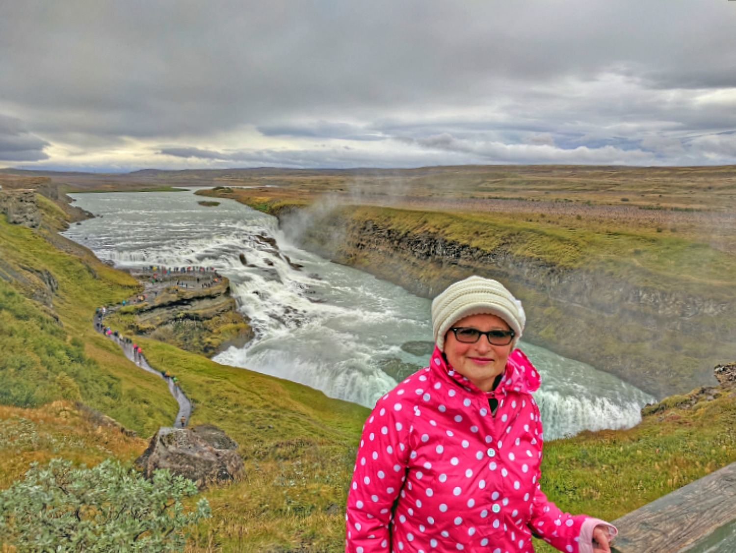 Living and traveling with cancer. Iceland waterfall.