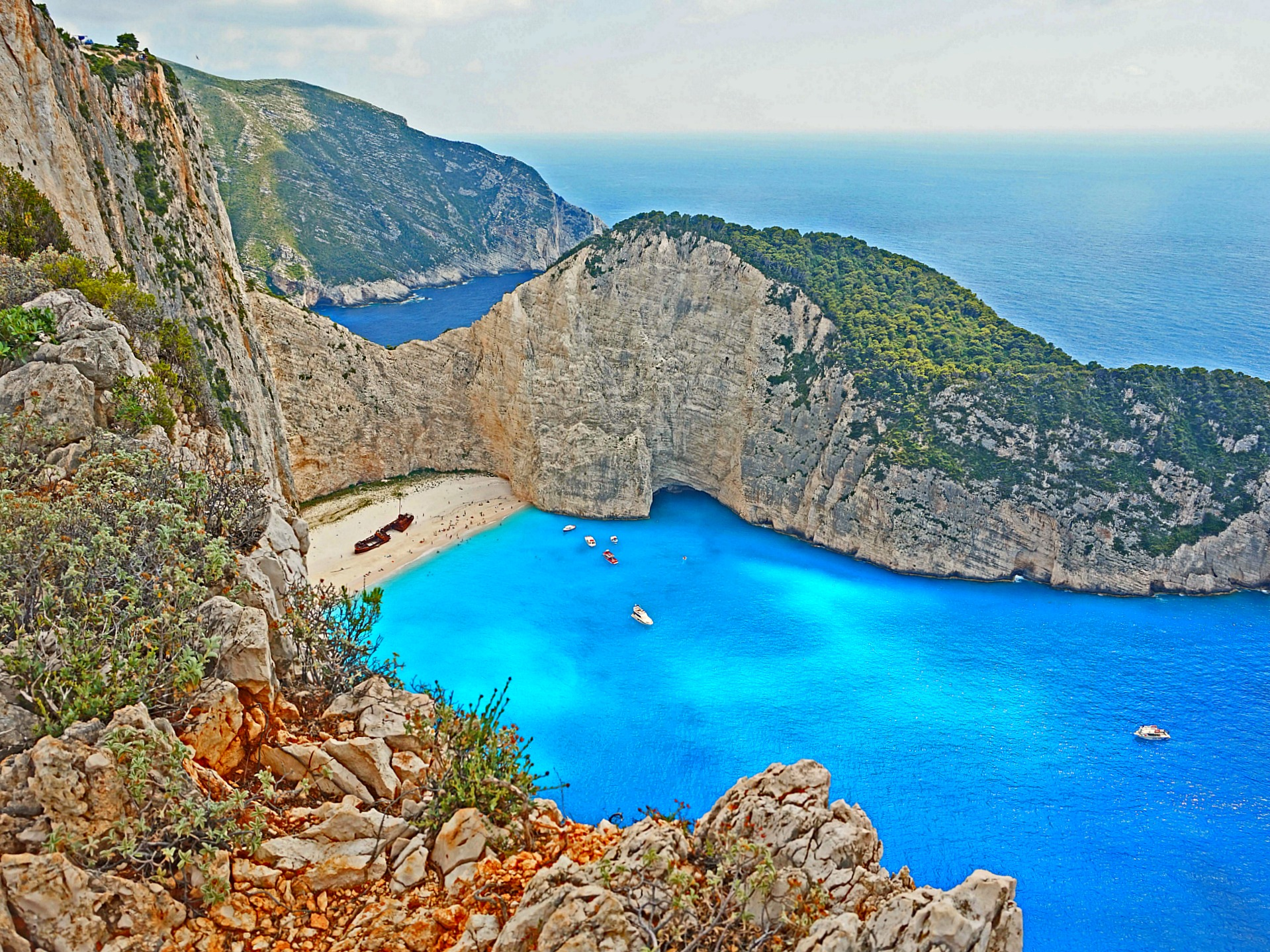 As blues as it could get. Navagio Beach Zakynthos Greece.