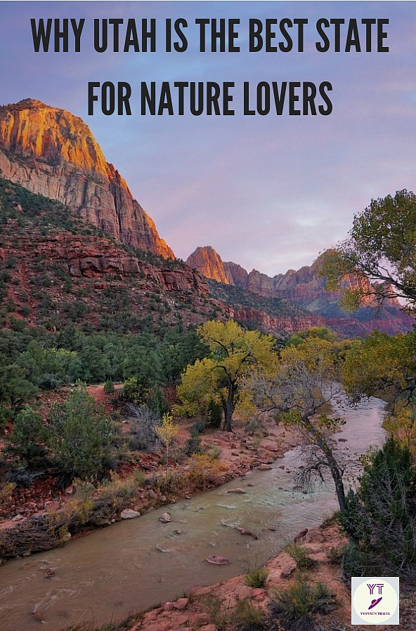 Why Utah it the best state for nature lovers? How about The Mighty 5 Utah national parks and 43 state parks and areas for hiking, biking and water sports! #Utahnationalparks #zion #bryce