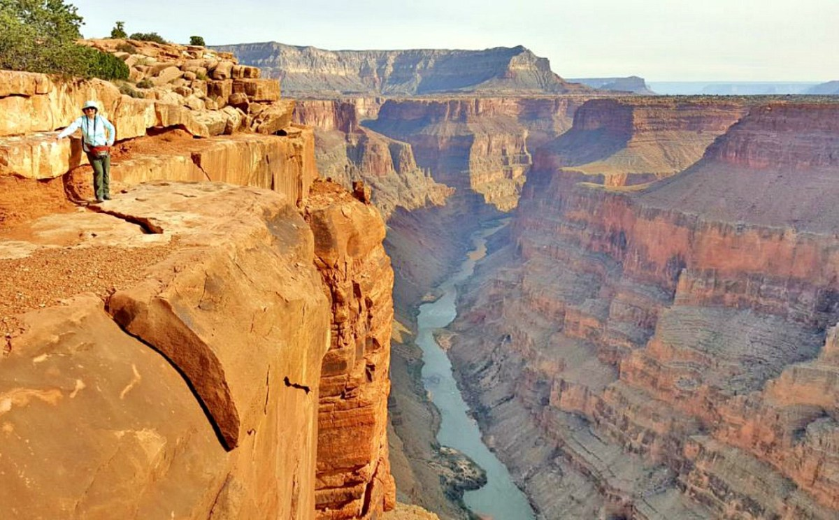 Benefits of travel. When standing on the edge of The Grand Canyon you certainly feel insignificant.