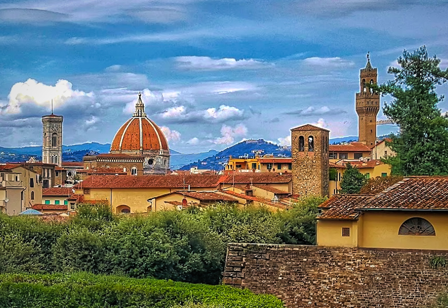 View of beautiful Florence Italy.