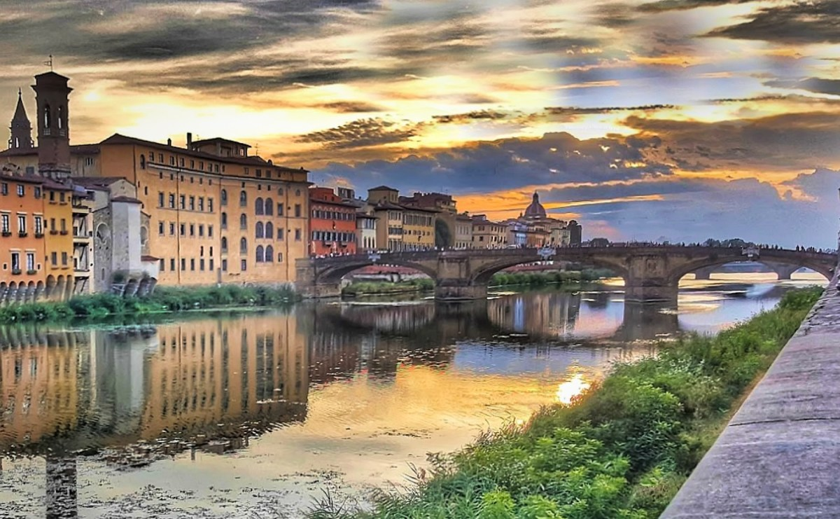 A walk along the river in Florence.