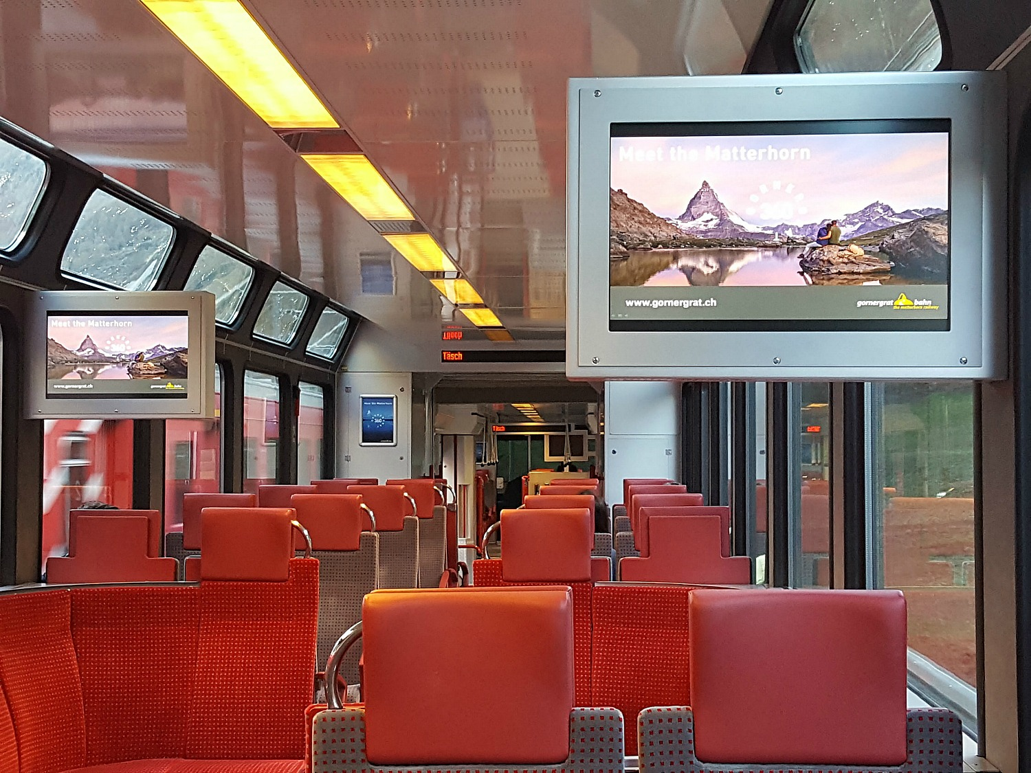 Zermatt how to visit - shuttle train from Täsch to Zermatt.