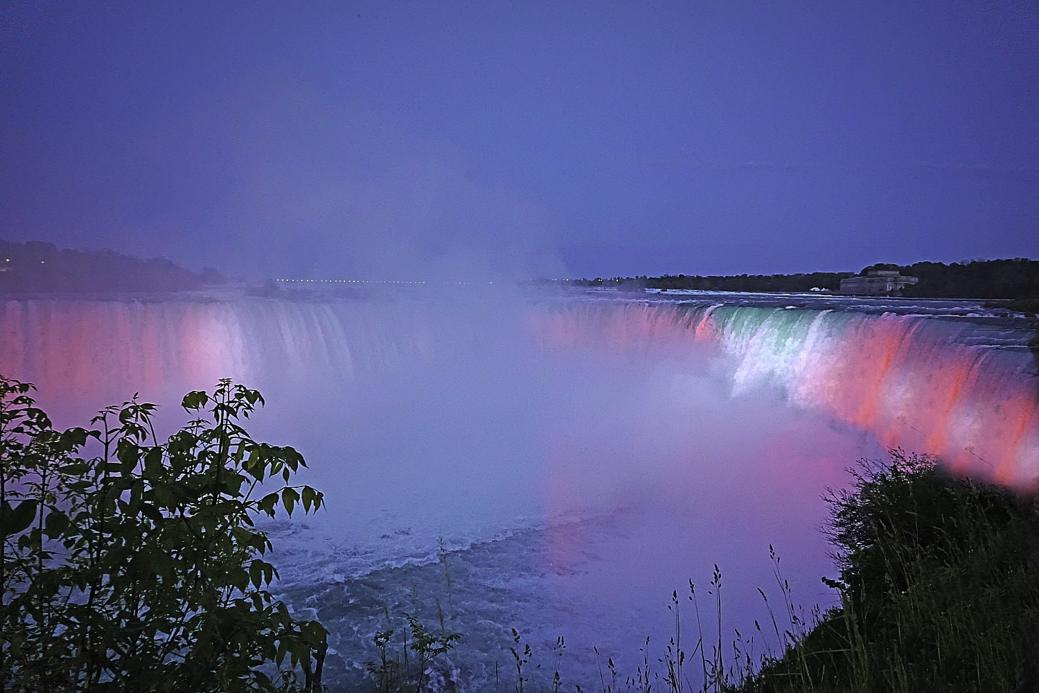 Daily light spectacular in Niagara Falls Canada.