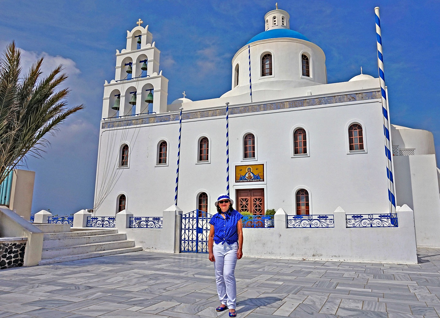 Church of Panagia in Oia Santorini.