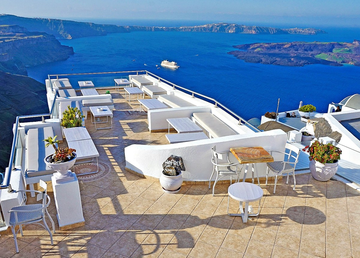 Nefeli Homes in Imerovigli Santorini with view of the caldera.