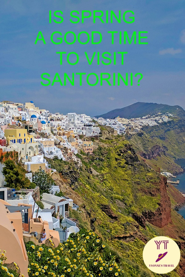 Are you asking yourself if spring is a good time to visit Santorni? Are you curious what to do in Santorinit in spring? Get these questions answered here. #santorinigreece #springinsantorini #oia