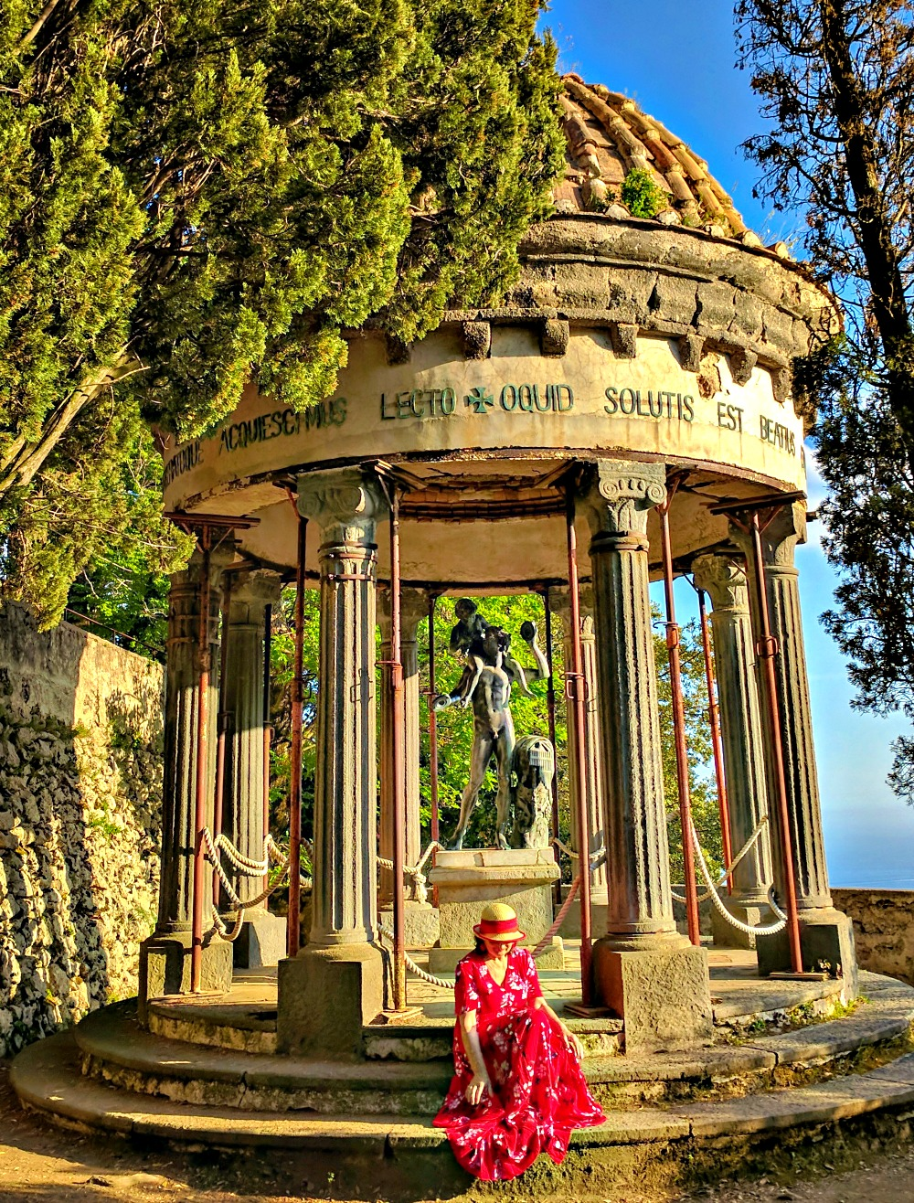 Gazebo at Villa Cimbrone in Ravello Italy.