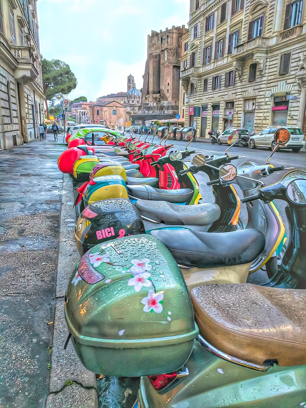 Scooter rental is Rome.