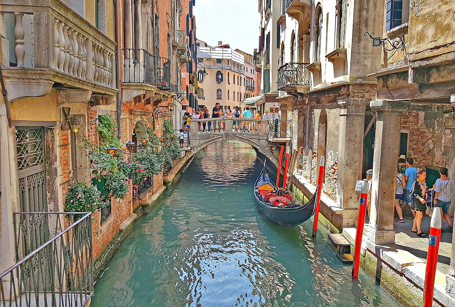 Italy's most famous sights - Venice charming canal.