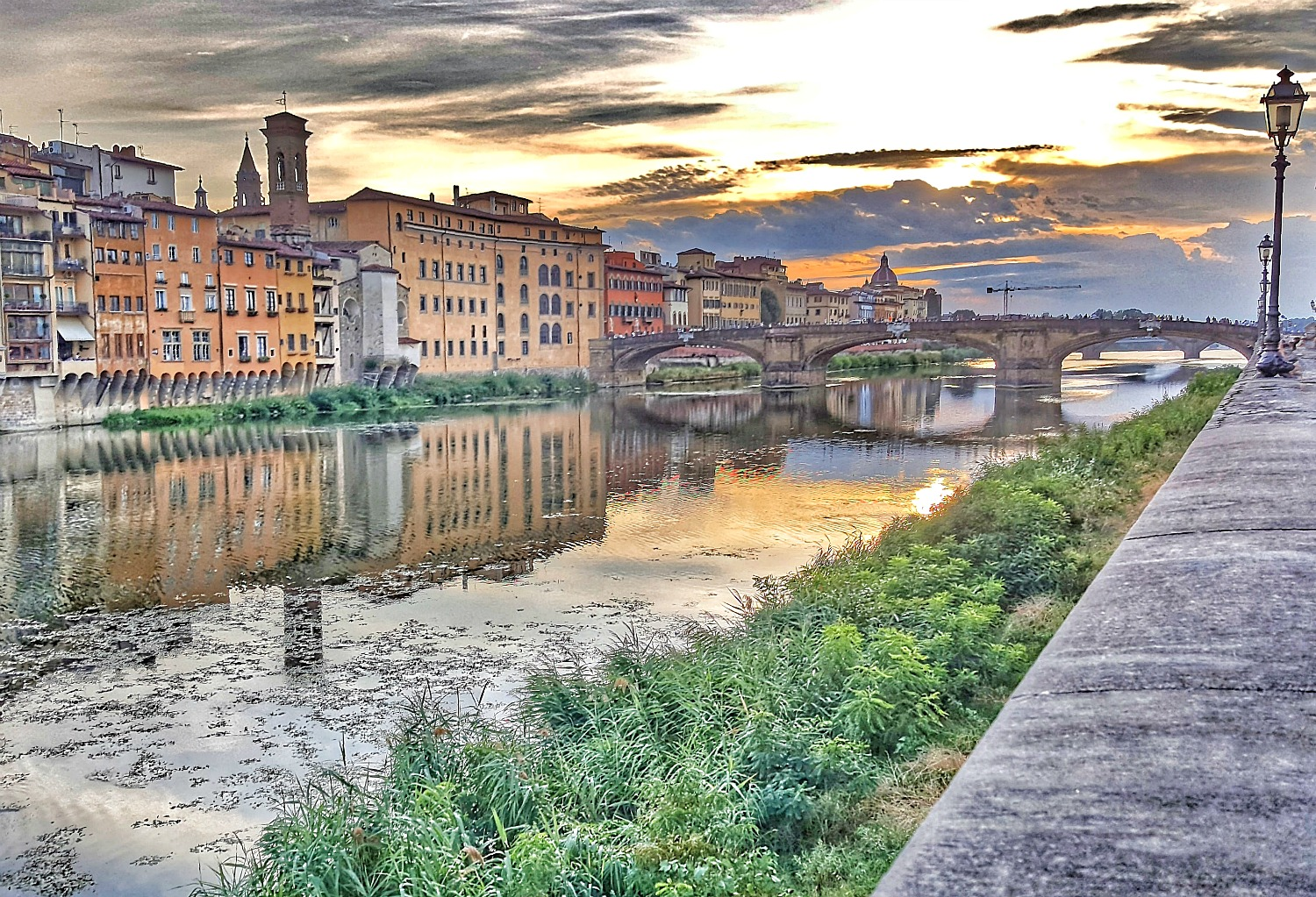 Famous attractions in Italy -Ponte Vecchio Florence.