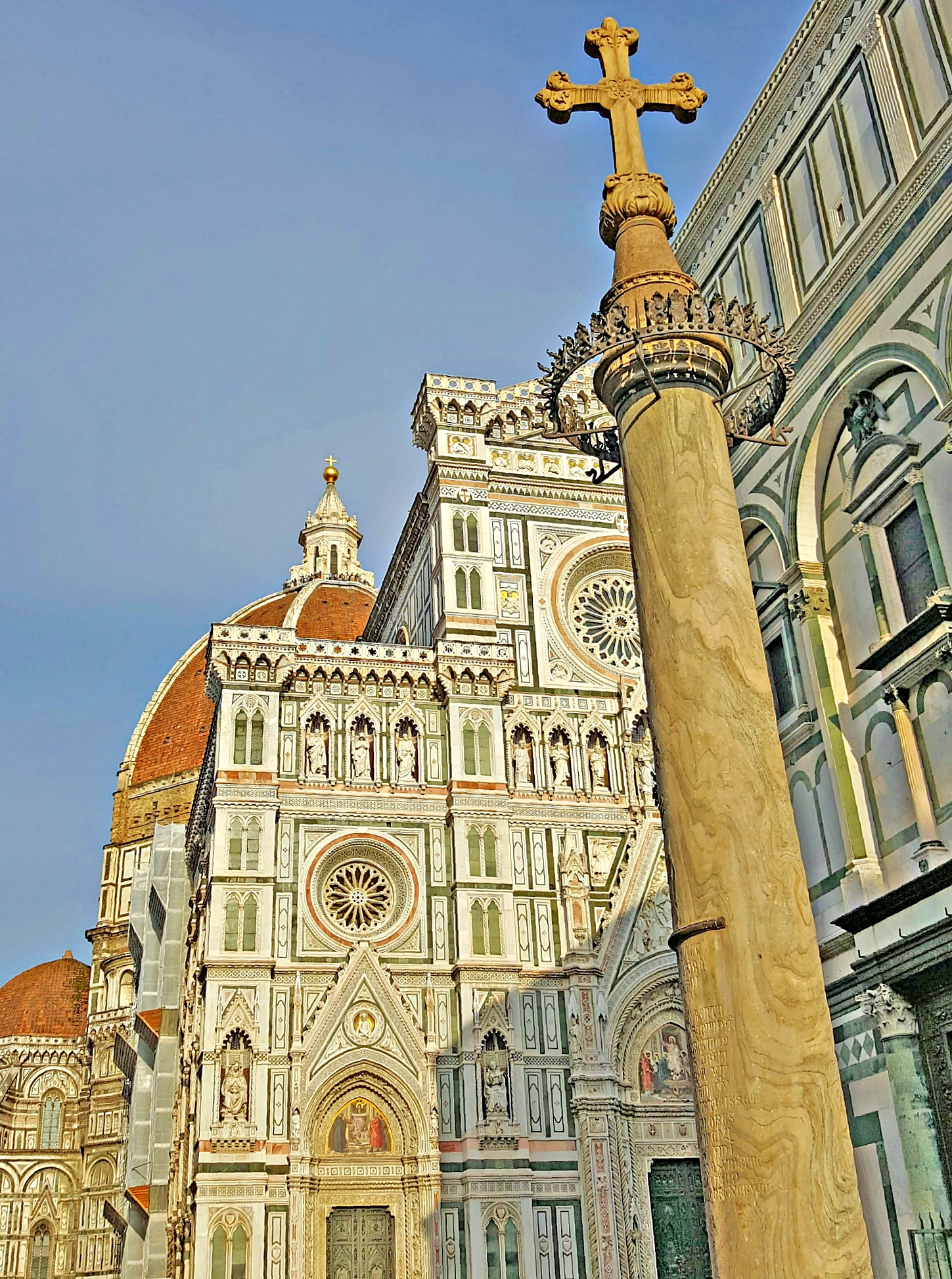 Famous sights in Italy - Piazza Duomo Florence.