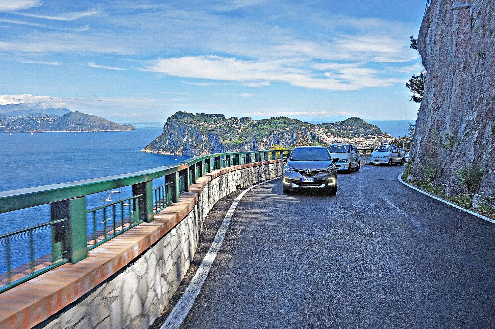 Drive from Capri to Anacapri.