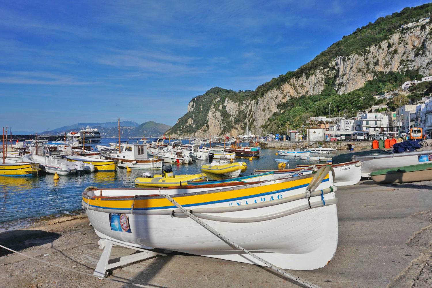 Famous sights in Italy - Capri marina.