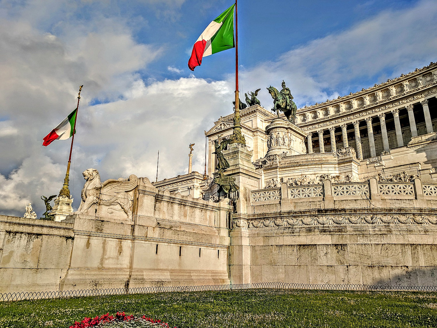 Mounment of Victor Emmanuel in Rome.
