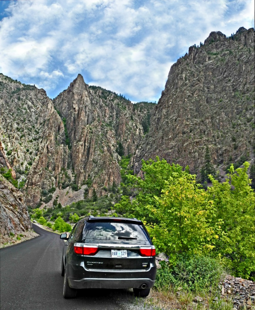 Reasons to visit America. Doge Durango in Black Canyon National Park.