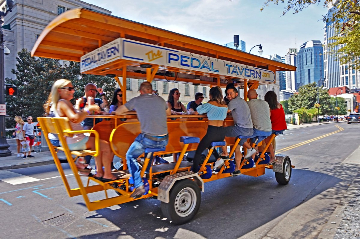 Pedal tavern in Nashville Tennessee.