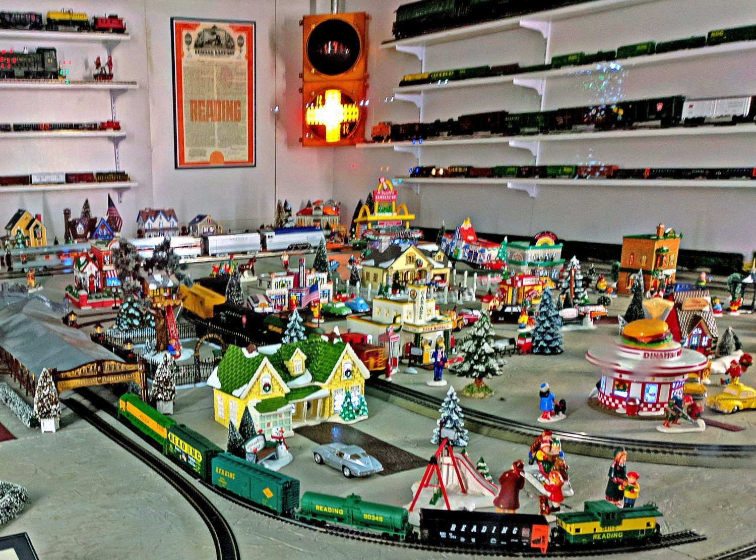 Koziar's Christmas Village. Toy train station.