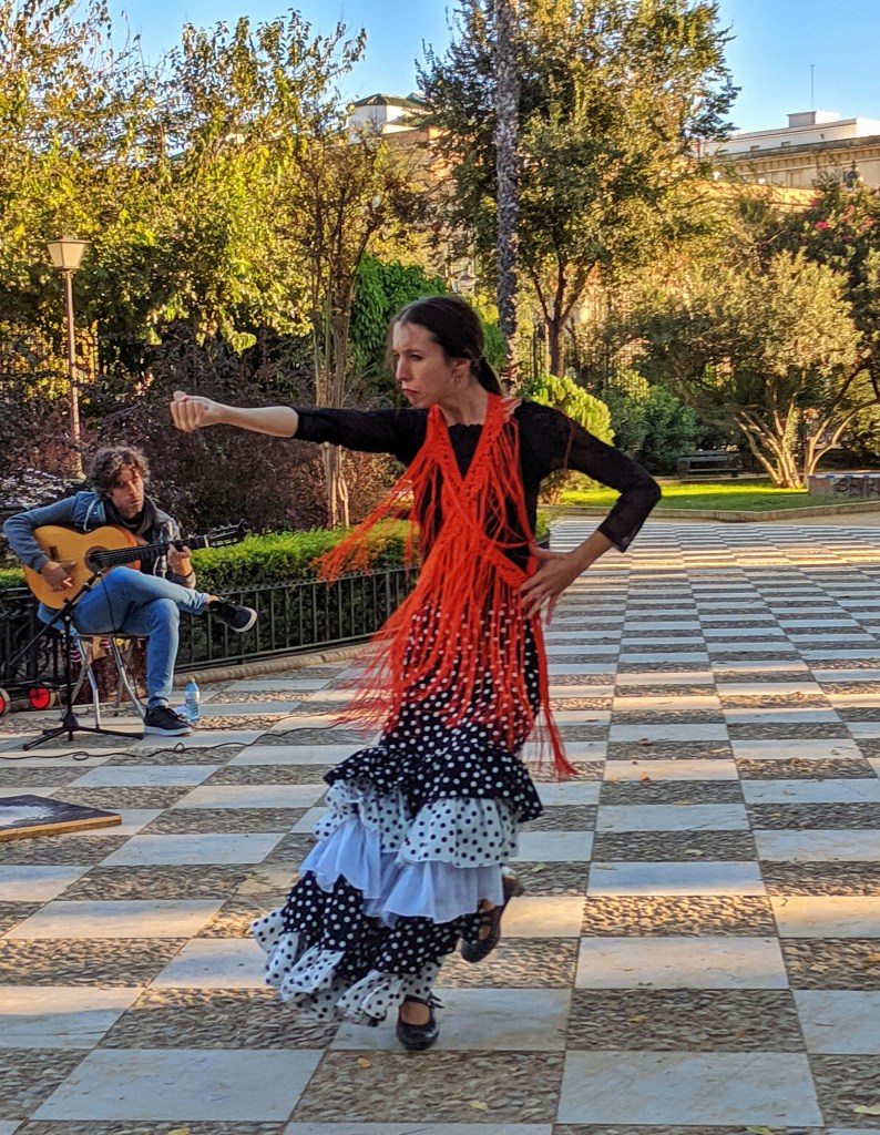 Flamenco dancer in Seville. Must do in Seville.
