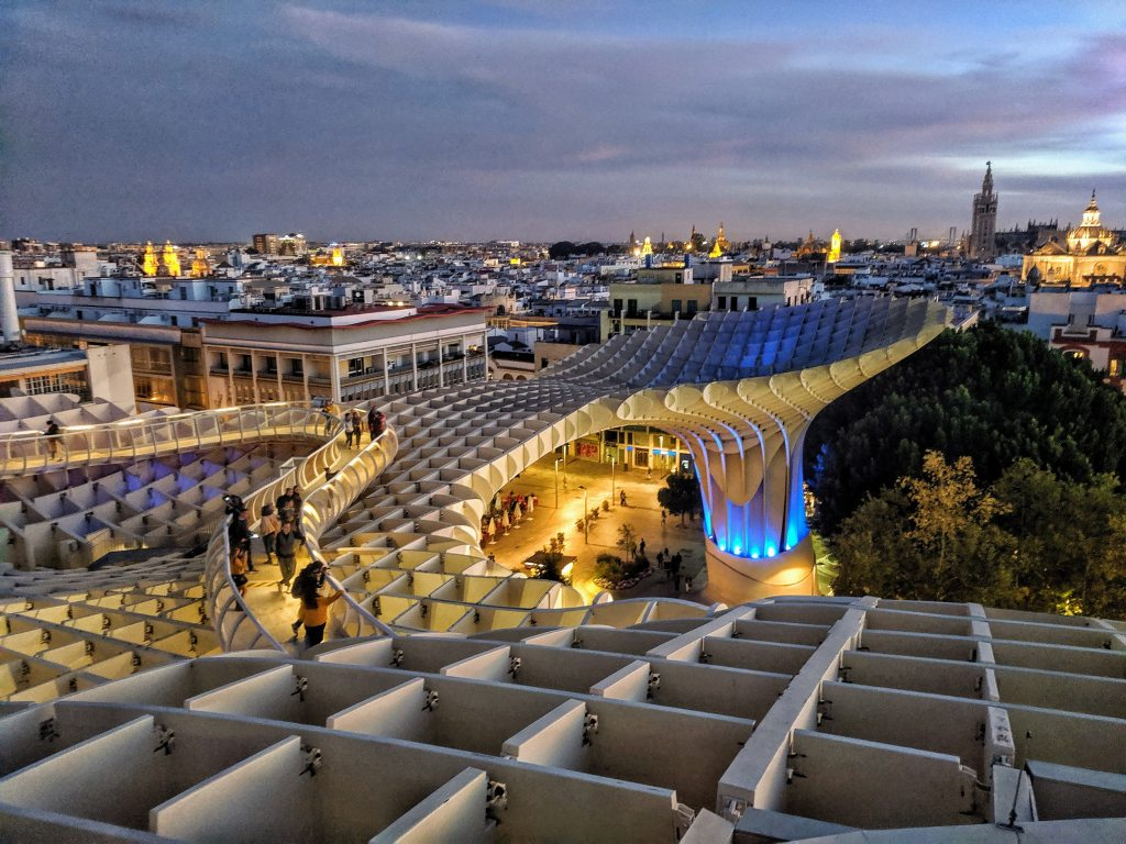 Seville in Spain, thing to do. Metropol Parasol.