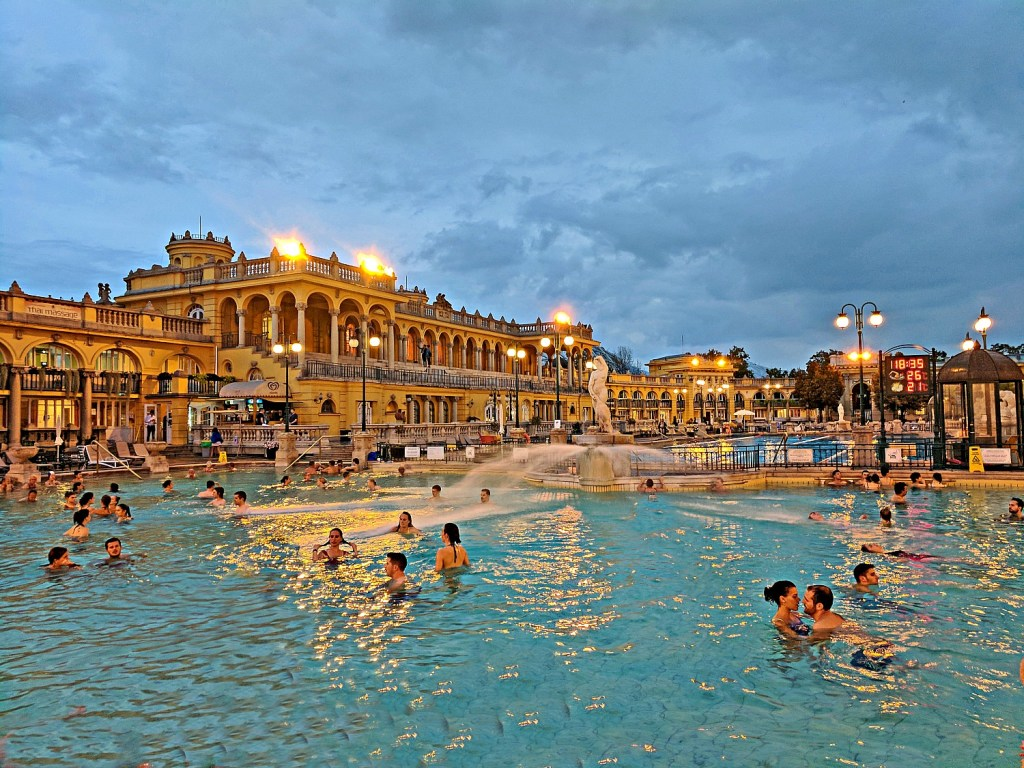 Budapest what to do. Soak in style at Szechenyi Thermal Baths.
