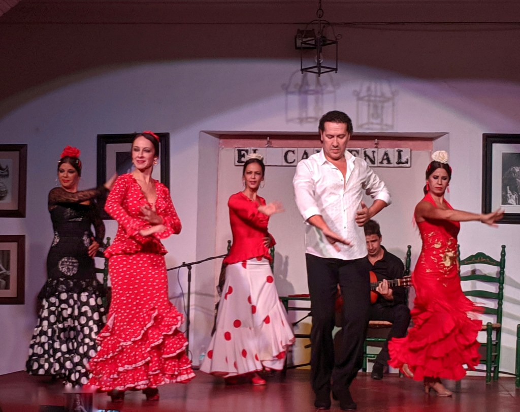 The spirit of Andalusia. Flamenco show in Cordoba, Spain.