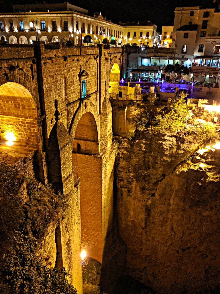 Puente Nuevo in Ronda at night.