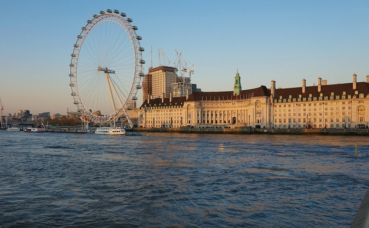 The London Eye delivers beautiful views of the city.
