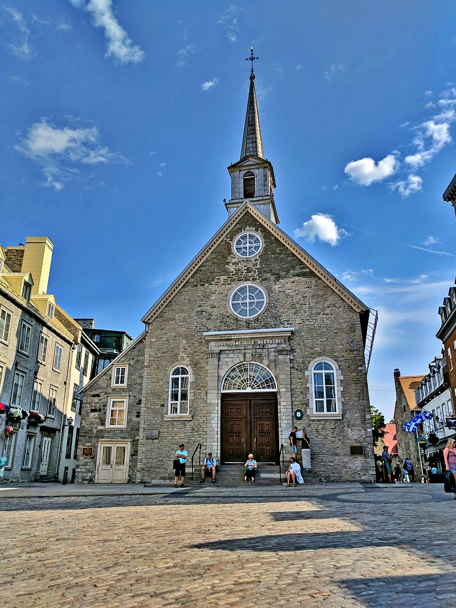 Notre-Dame-des-Victoires Church in the Old Town Quebec City.