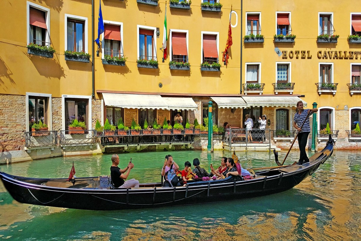 Best visits in Europe. Gondola ride in Venice.