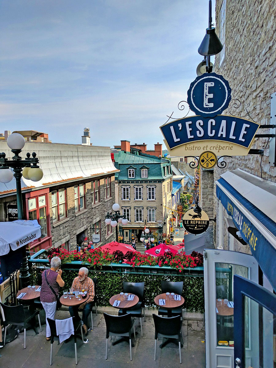 In the Lower Town of Quebec City, the charm overflows the streets.