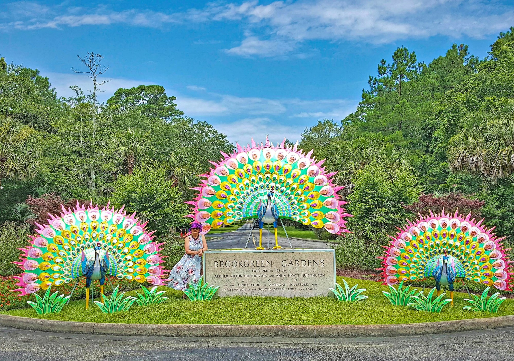 Entrance to Brookgreen Gardens in South Carolina.