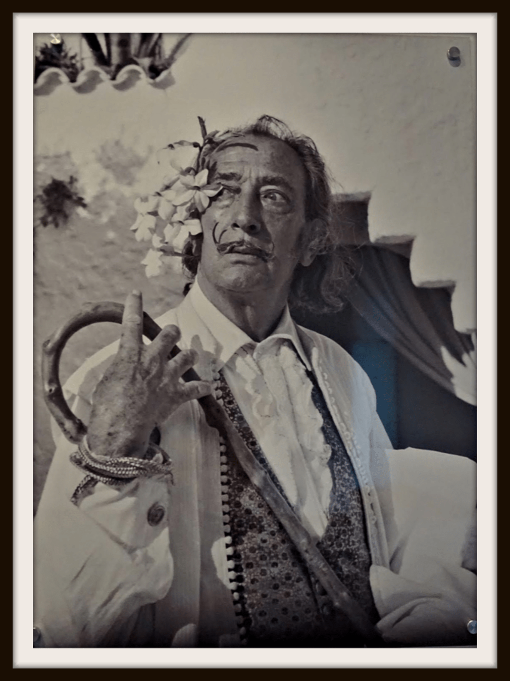 Salvador Dali portrait in The Dali Museum in St. Petersburg, Florida