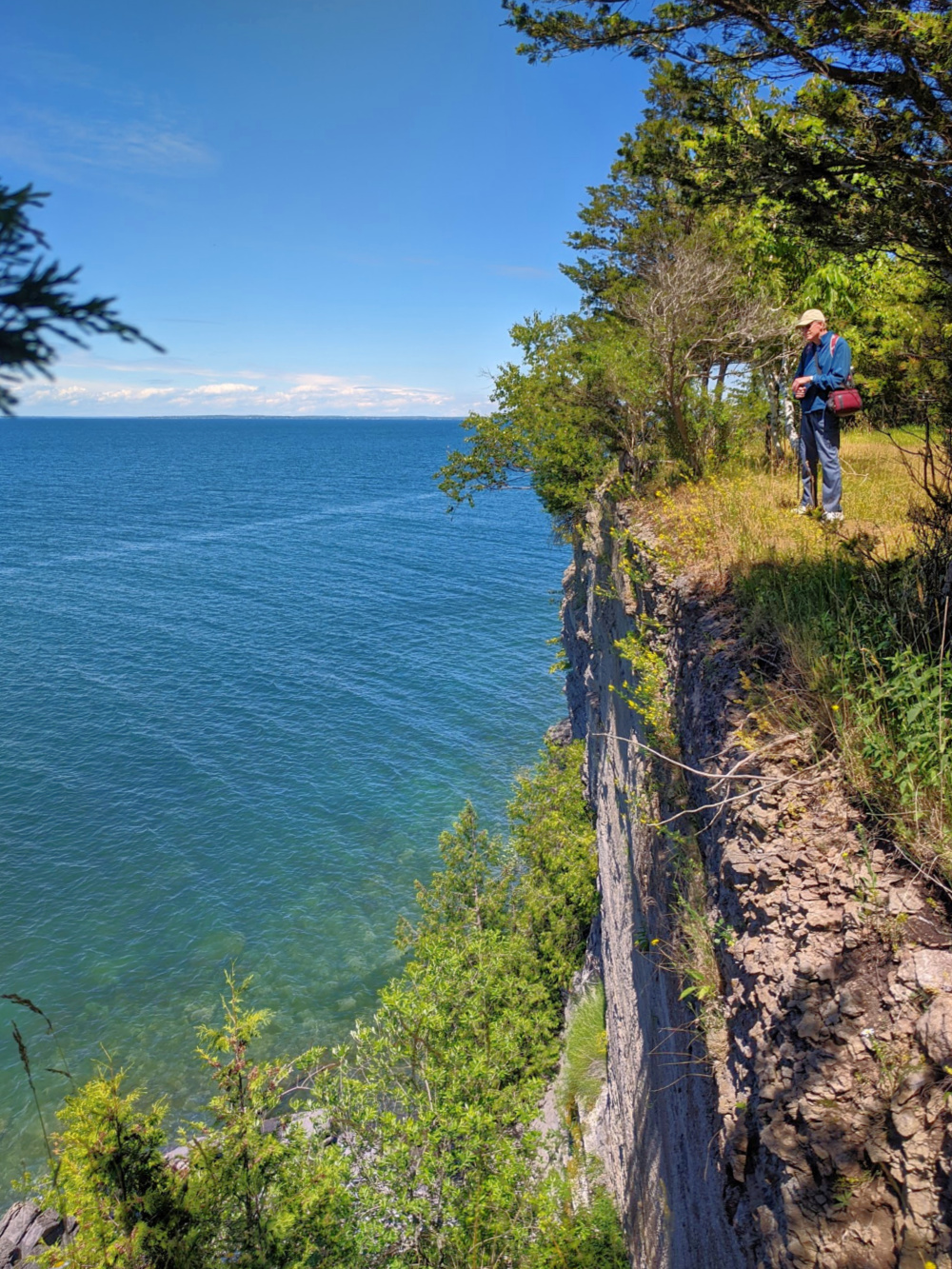 High cliffs at Robert G. Wehle State Park in Lake Ontario in New York.