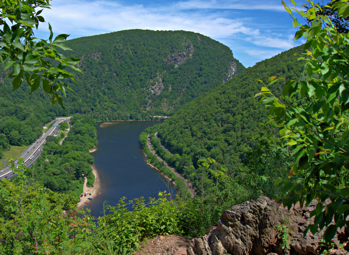 Thing to do at Promised Land State Park. Make sure to hike Mount Minsi for beautiful views of Delaware Water Gap.