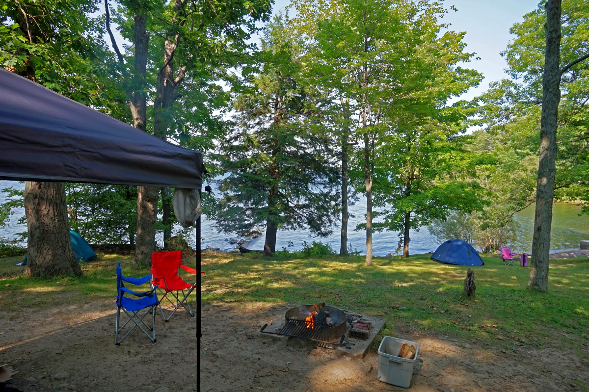 First time camping tips. Waterfront sites are in high demand so reserve early.