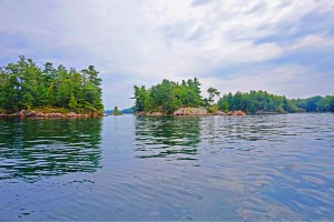 1000 Islands New York. View form the water.