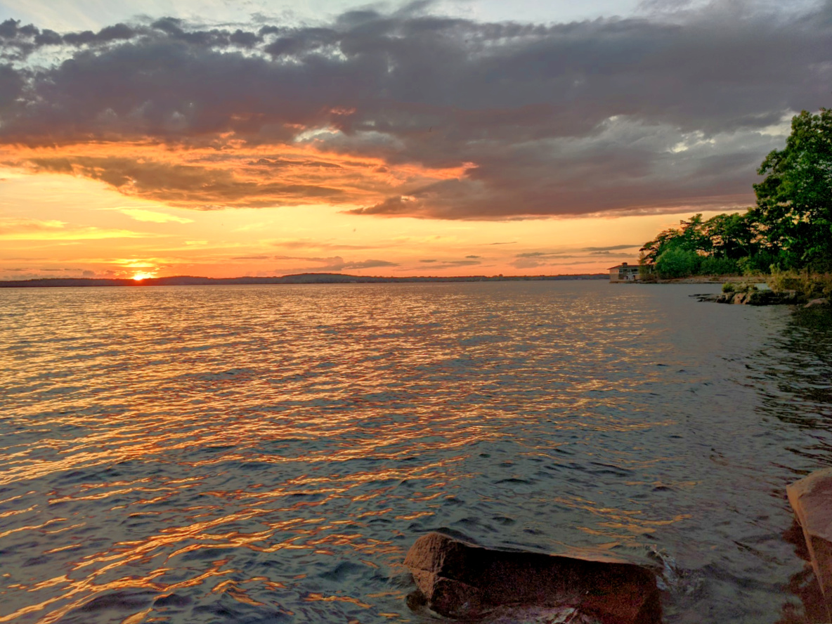 Kring Point State Parks features beautiful sunsets over St. Lawrence River.
