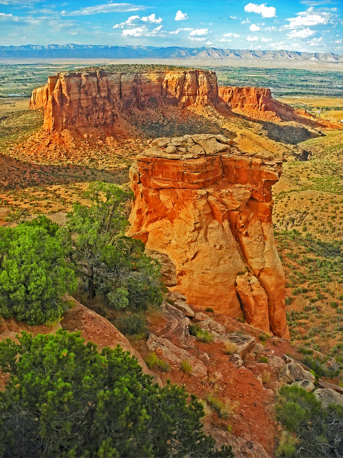 Every way you turn in Colorado National Monument, the rocks just shine against the blue sky.