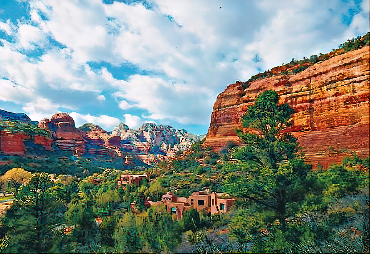 Things to do in Sedona, Arizona. View with matching architecture.