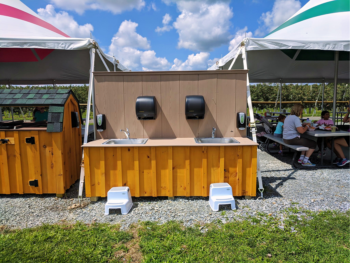 Lakeland Orchard & Cidery. Cleaning station.