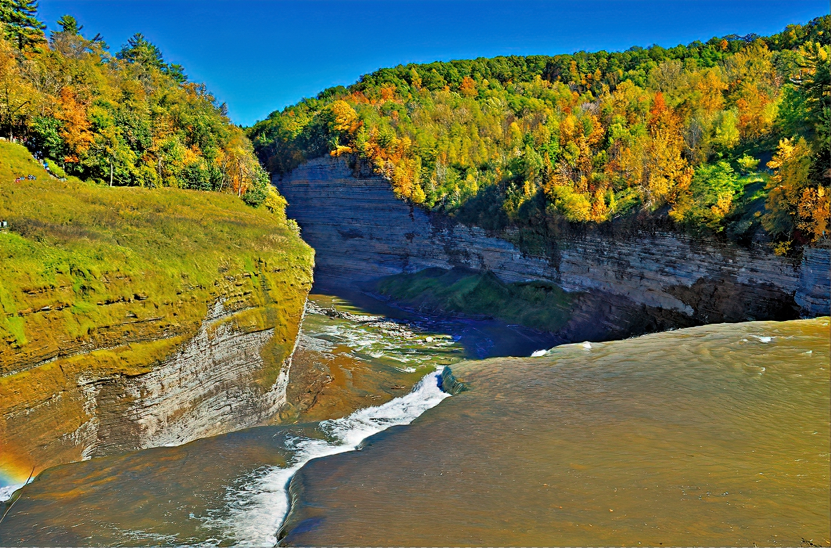Another view of the gorge at Letchworth State Park, NY.